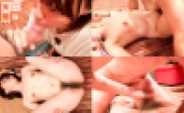 【会心の生中出し!】チ○コボールサイズ乳首お姉さんに床でガンガン行こうぜ!!